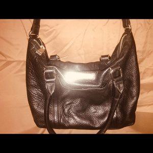 CALVIN Klein black genuine leather bag
